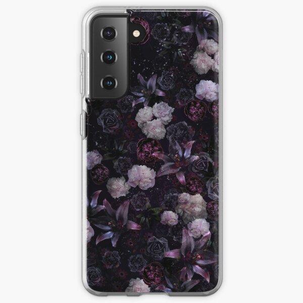 Midsummer Nights Dream #Dark Floral #Midnight #Black #Rose #Night Samsung Galaxy Soft Case