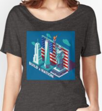 NYC Monuments Landmarks Isometric Women's Relaxed Fit T-Shirt