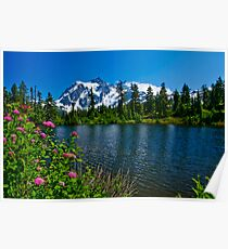 Mount Shuksan and Highwood Lake Poster