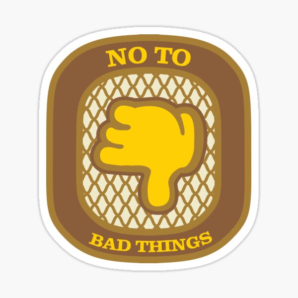 No To Bad Things (Thumbs Down) Sticker