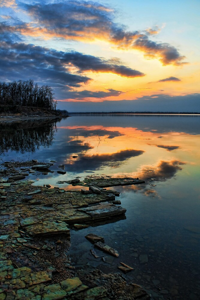 Another Lovely Lake Sunset by Carolyn  Fletcher