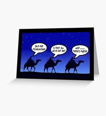 Funny 3 wise men Christmas Greeting Card