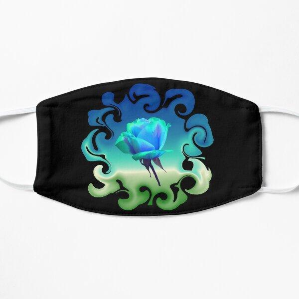 Traum in blau - einzigartige blaue Rose Maske