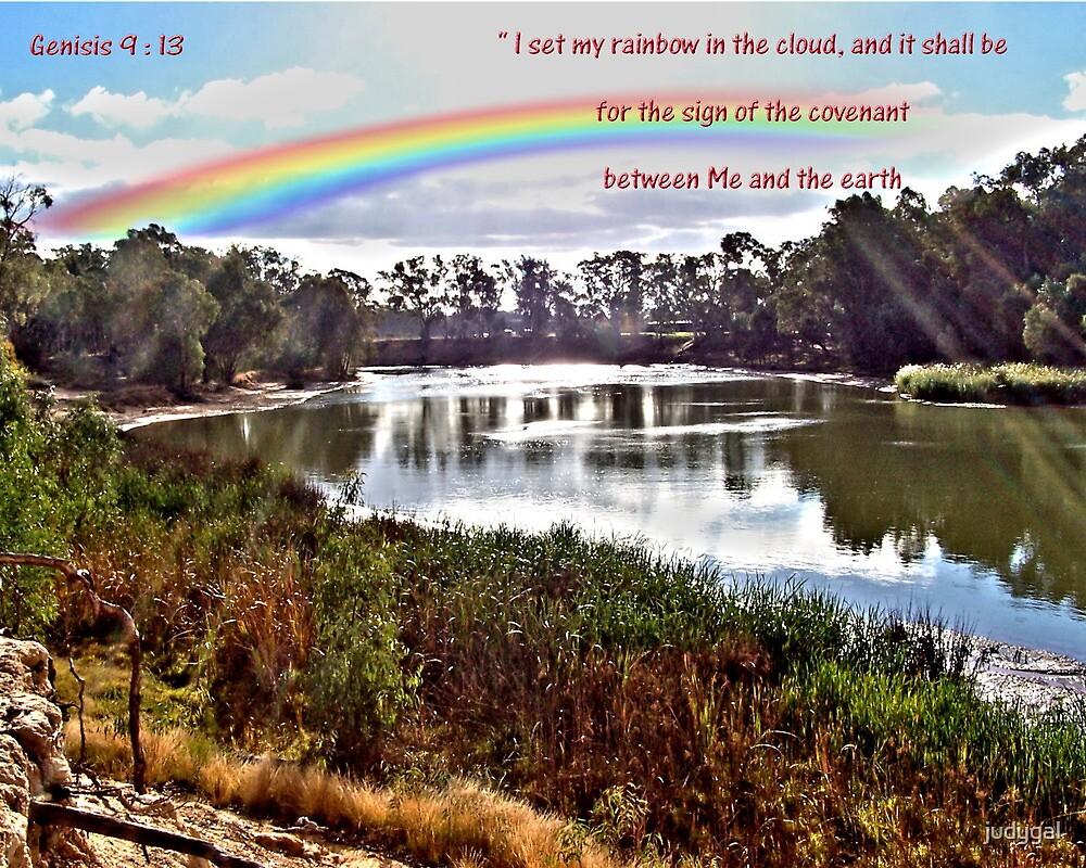 The Rainbow - Covenant - Genesis 9:13 by judygal