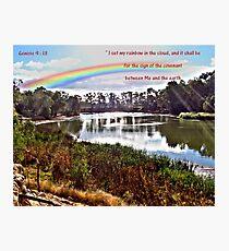 The Rainbow - Covenant - Genesis 9:13 Photographic Print