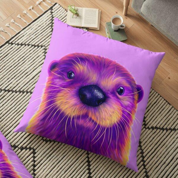 Purple Otter Floor Pillow
