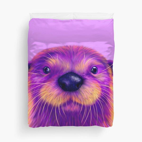 Purple Otter Duvet Cover