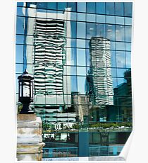 Shimmering View of the Federal Reserve Bank in Boston  Poster