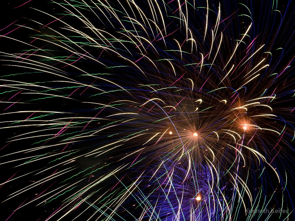 Kaboom - Fireworks on the Fourth by Kenneth Keifer