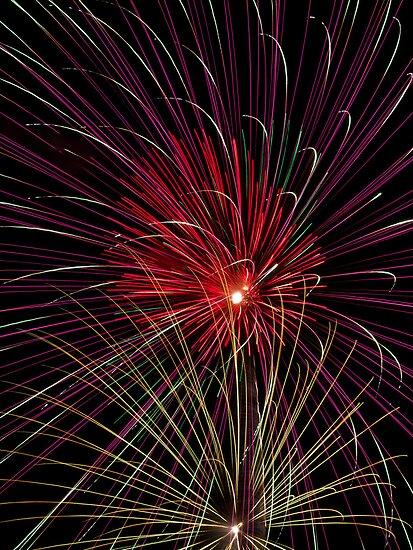 Boom  Boom - Fireworks Explosions by Kenneth Keifer