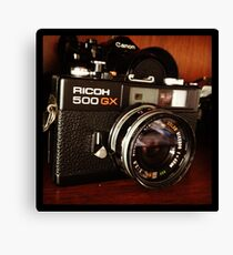 Old 35mm camera Canvas Print