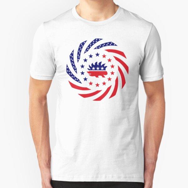 Libertarian Murican Patriot Flag Series Slim Fit T-Shirt