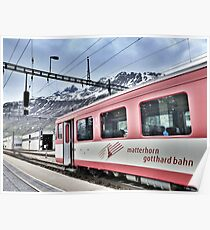 Andermatt Sidings.  Poster