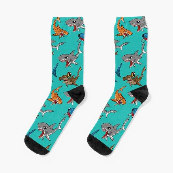 Shark Pattern Socks
