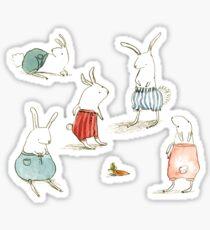 If Rabbits Wore Pants Sticker
