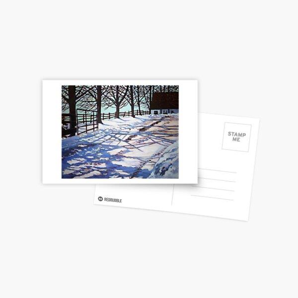 Snow patterns Postcard