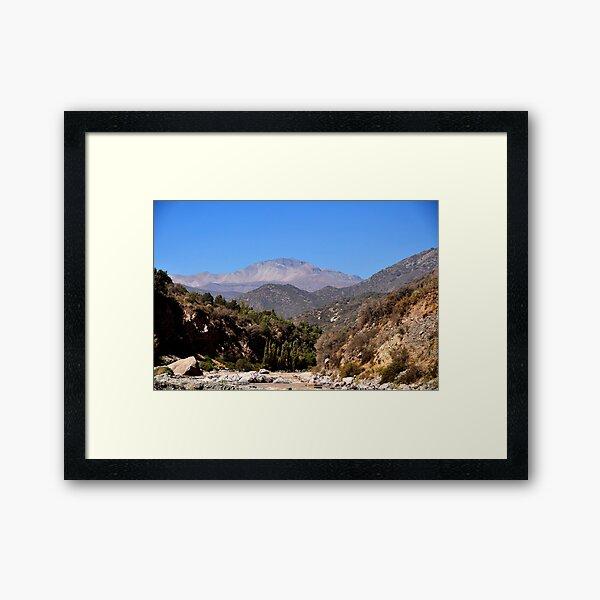 Chile, Mountain Cajon del Maipo, Framed Art Print