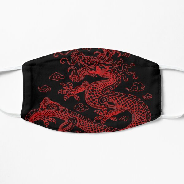 Chinese Red Dragon Flat Mask