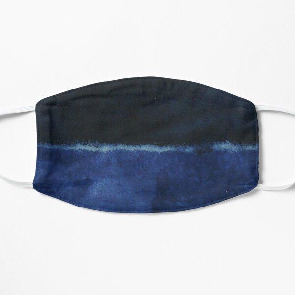 Mark Rothko Painting Style Art Dark Blue  Flat Mask
