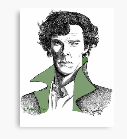 The Sherlock Variations (Green) Canvas Print