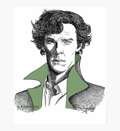 The Sherlock Variations (Green) Photographic Print