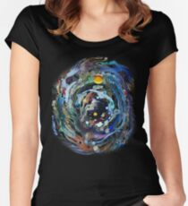 Psychedelic Space  Women's Fitted Scoop T-Shirt
