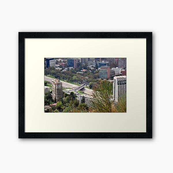 Santiago de Chile Framed Art Print