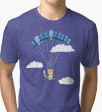 Cutie Parachuting Dog Tri-blend T-Shirt