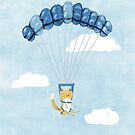 Cutie Parachuting Dog by Sophie Corrigan