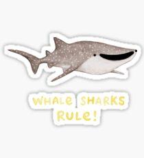 Whale Sharks Rule! Sticker