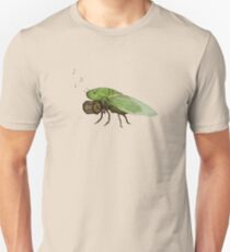 Cicada Playing a Squeezebox Unisex T-Shirt