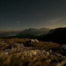 The quiet night - Dolomites by Claire Haslope
