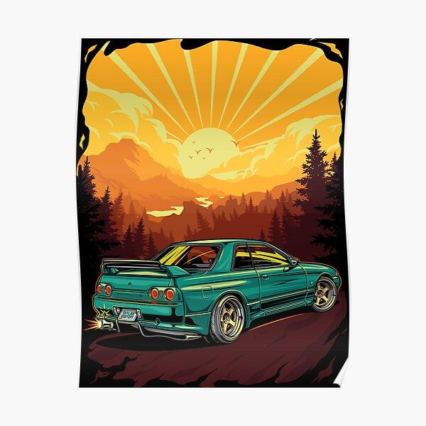 Nissan Skyline R32 BNR Poster