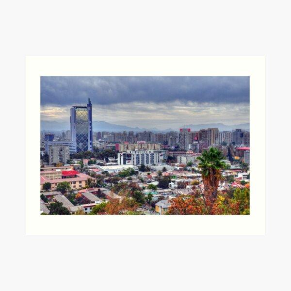 HDR, Santiago de Chile, Art Print