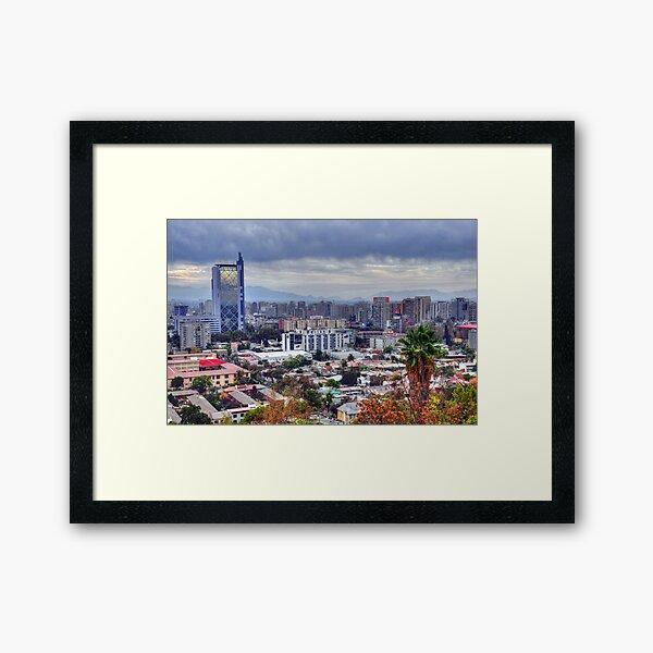 HDR, Santiago de Chile, Framed Art Print