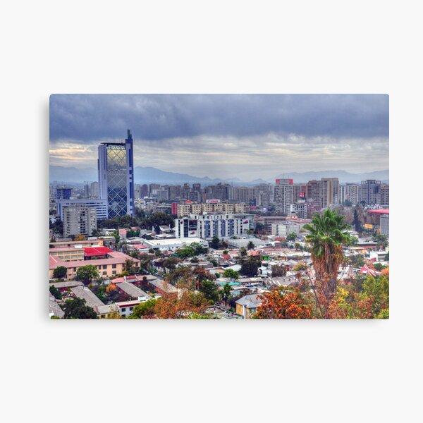 HDR, Santiago de Chile, Metal Print