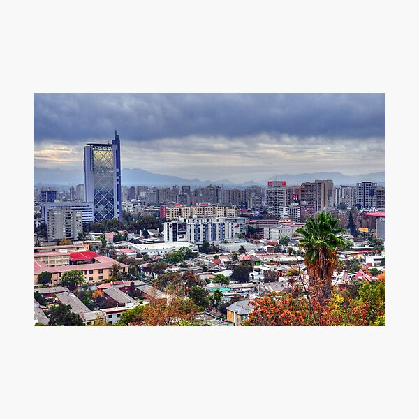 HDR, Santiago de Chile, Photographic Print