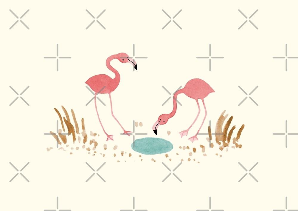 Flamingos by Sophie Corrigan