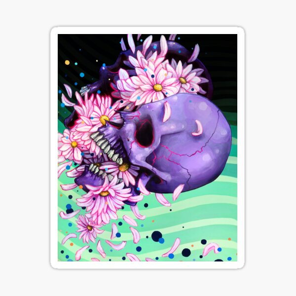Pushing Up Daisies in color Sticker