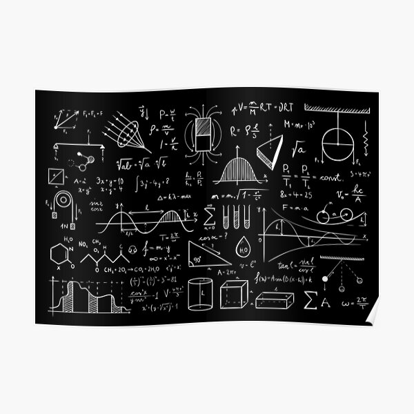 Science Physics Pattern  Poster