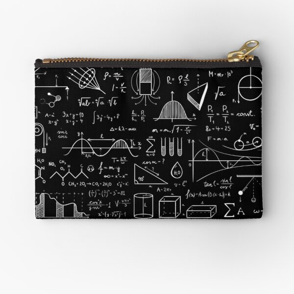 Science Physics Pattern  Zipper Pouch