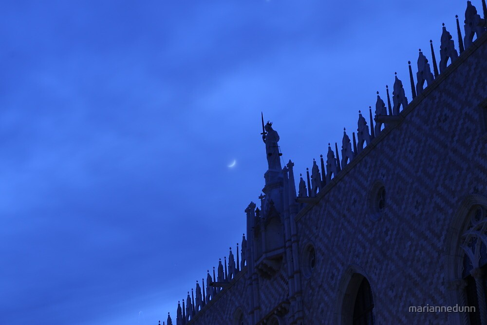 Moon over Palazzo Ducale  by mariannedunn