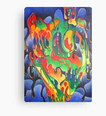 Buxom Nude Woman Splashed With Paint Canvas Print