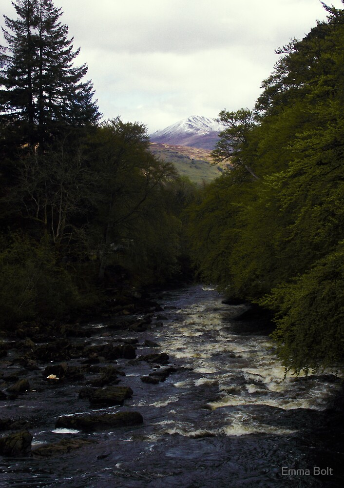 The River Dochart and the Mountains Beyond by Emma Bolt