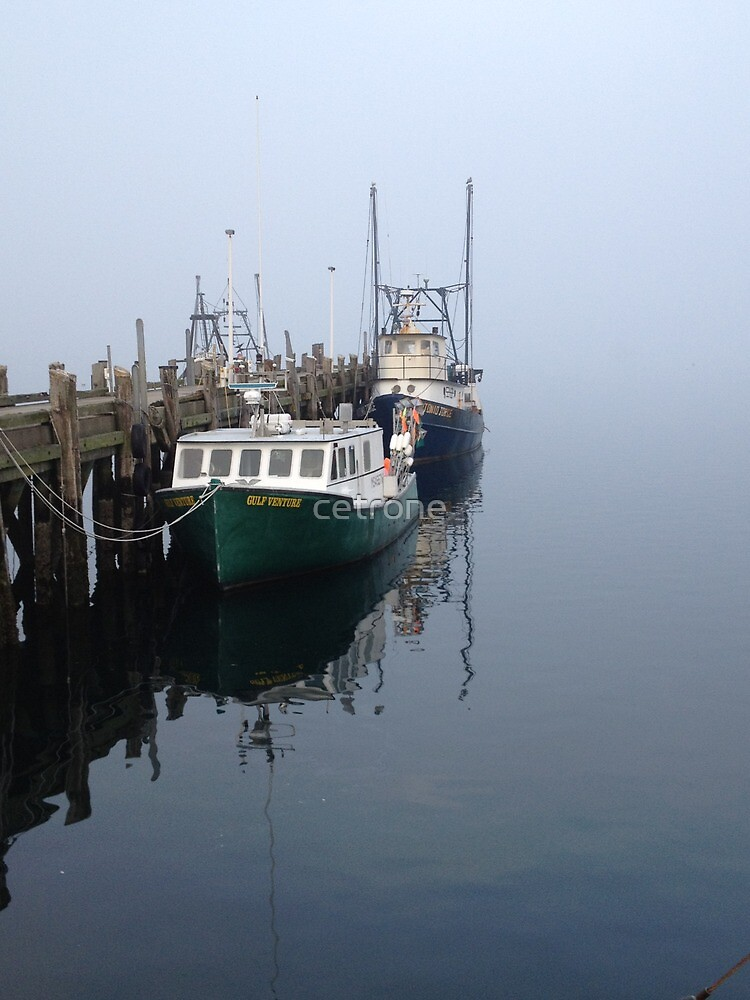 Boats in Fog by cetrone