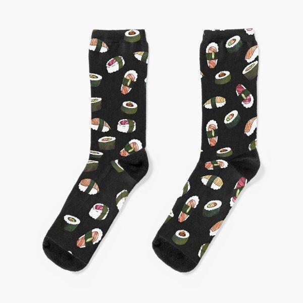 SUSHI (on black) Socks