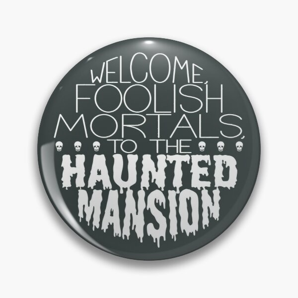 Haunted Mansion Typography Pin