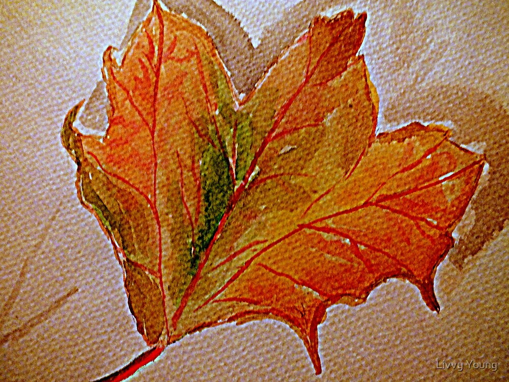 Autumnal leaf. by Livvy Young