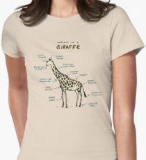 Anatomy of a Giraffe Women's Fitted T-Shirt
