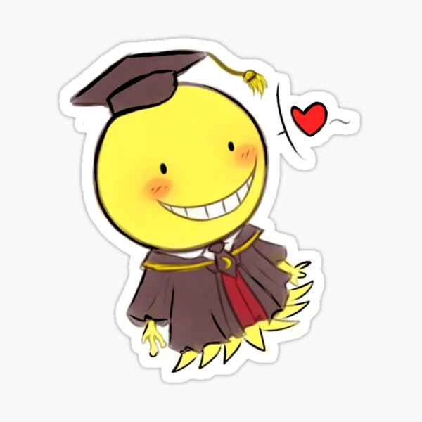 Koro Sensei Chibi fan art ! - Assassination Classroom  Glossy Sticker